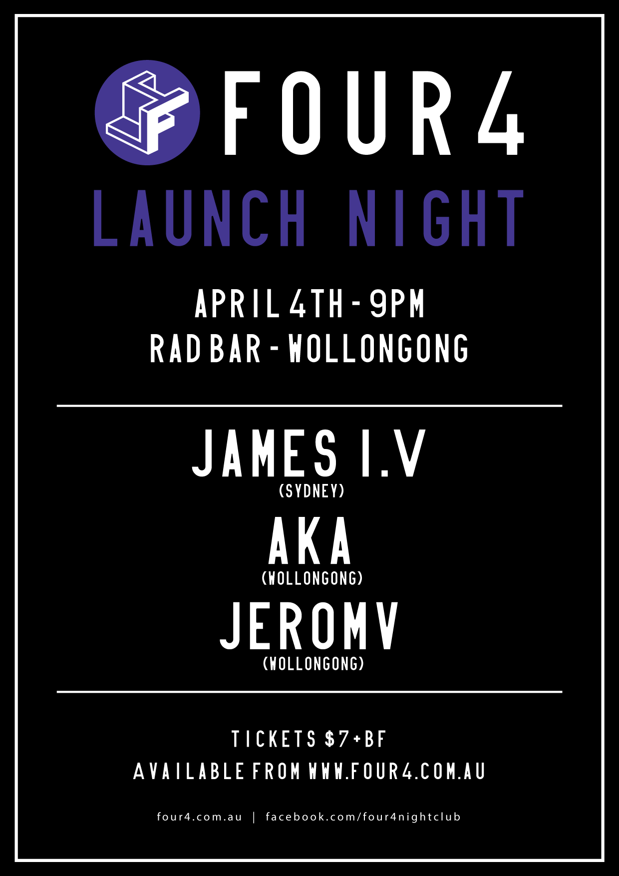 launch night poster